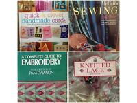 Joblot bundle of vintage craft sewing embroidery lace card making books job lot