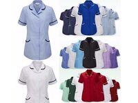 New Alexandra Womens Healthcare Nurses Carer Uniform Tunic Vet Salon Beauty Medical Dental Therapist