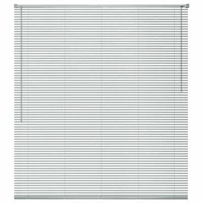 vidaXL Persiana de Aluminio PVC 60x220 cm Plateada Veneciana Cortinas Accesorios