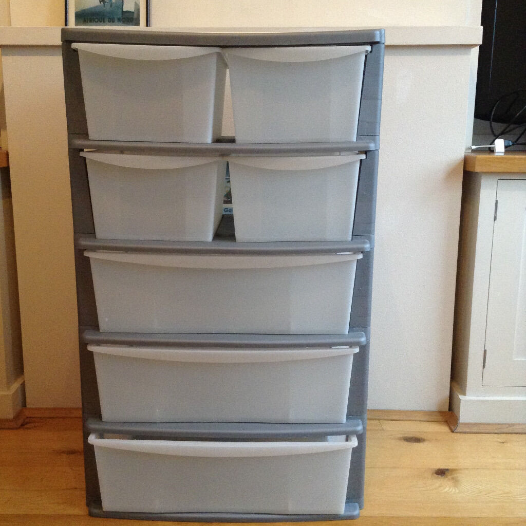 7 Drawer Plastic Storage Unit