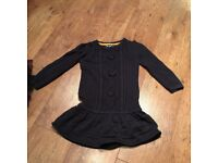 Girls dress age 3/4 - Blue, wool.