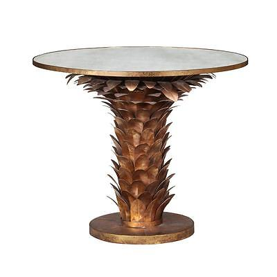 BEST OFFERS! IMPORTANT PALM TREE MAISON BAGUES STYLE MIRRORED CENTER FOYER - Mirror Center Table