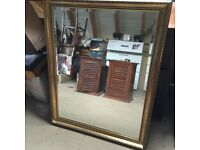 ANTIQUE GOLD GUILTED MIRROR