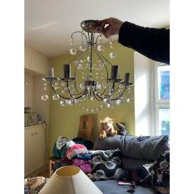 2 x Chandelier light fitting - new