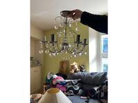 2 x Chandelier light fitting - new