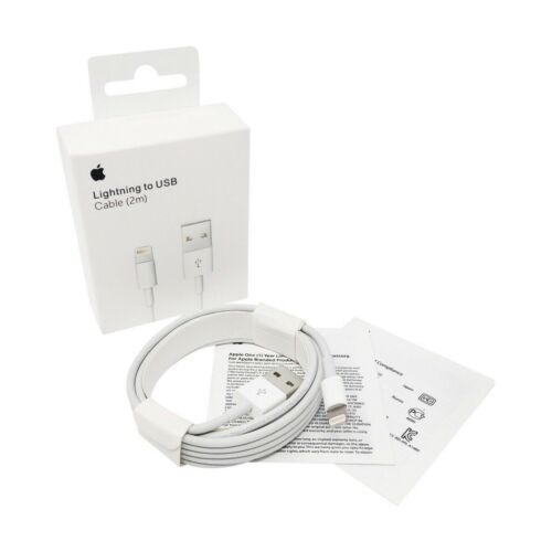 New Apple Lightning Cable USB Cable Charger iPhone X 8 7 6S Plus 5 SE 2M 6FT