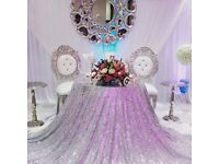 Pair of Beautiful and Elegant Bride and Groom Chairs for Weddings