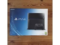 PS4 console and controller boxed 500gb
