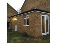 independant void virus self contained no share studio/bedsit which developed front and back garden,