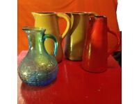 Collection of jugs