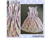 Age 9-10 Girls floral summer dress