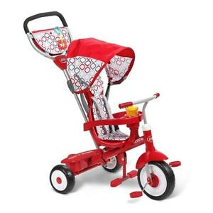NEW Radio Flyer Ultimate 4-in-1 Stroll N Trike Ride On, Red