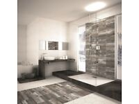 TRENDY INDUSTRIAL WOOD LOOK PORCELAIN TILES IN PLANK FORM - 10 square metre lot