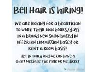 Beauticians, nail techs, stylists, make up artists wanted