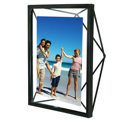 Vintage Metal & Glass Freestanding Photo Picture Frame Table