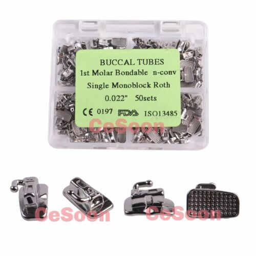 50Sets Orthodontic Buccal Tube Bonding Single Tubes 1st Molar Roth 022 Monoblock
