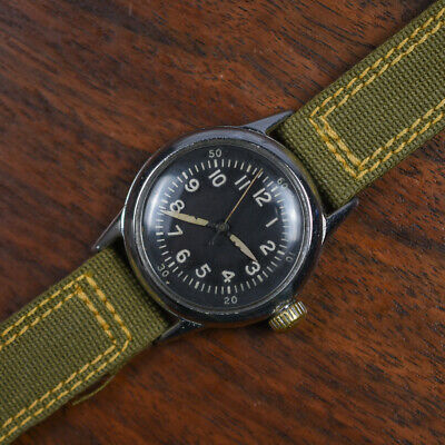 Vintage WALTHAM A-11 Manual Wind Hack Set Military Watch REGISTERED NURSE Army