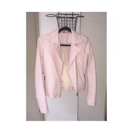 Woman's pink leather jacket size 10