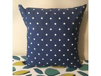 Mother's Day Gift Idea Handmade 50cm x 50cm Blue Spotty Cushion - collect from Gosport