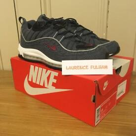 Nike Air Max 98 Thunder Blue Size UK 10
