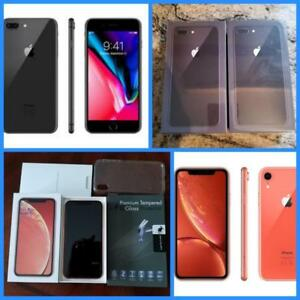 New in Box iPhone 8 Plus ($875) and XR ($975) 64GB, 1 Year Apple Warranty! Factory Unlocked!*(Rogers/Telus/Bell/Freedom)