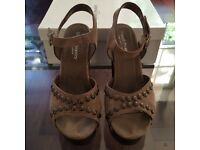 Gorgeous Block Heel Sandals size 38 by Russell & Bromley