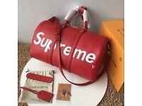 Supreme x Louis Vuitton Duffle Bag Red