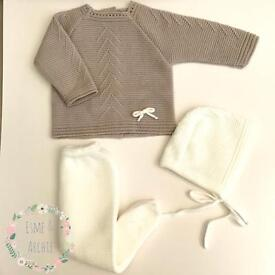 Spanish knitted baby outfit