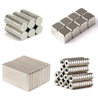 20 50 100 Pcs Round Disc Block Magnets Rare Earth Neodymium N52 N50 N35 All Size