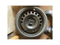 """TEMPORARY SPARE WHEEL (Size 16"""") with Continental tyre NEVER USED IN MY VAUXHALL ASTRA"""