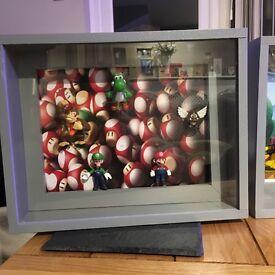 Mario And Luigi wall art decorative box handmade by Box BRO Production