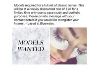 Models required for a full set of classic lashes.