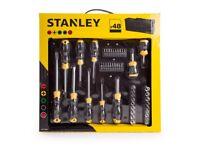 Brand New Stanley Screwdriver Socket & Bit 48 Set + FREE Bag