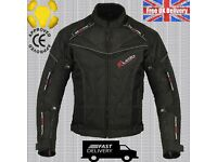 BLACK HAWK MENS CE ARMOUR ALL WEATHER MOTORBIKE / MOTORCYCLE TEXTILE