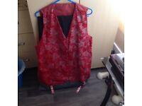 Red Shiny Waistcoat