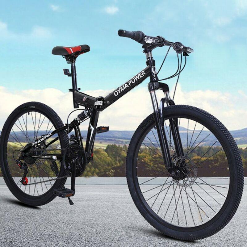 """26/"""" Full Suspension Mountain Bike Shimano 21 Speed Men/'s Bikes Bicycle MTB"""