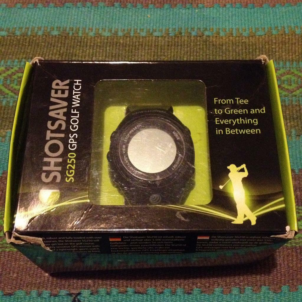 Shot saver GPS golf watchin Wimborne, DorsetGumtree - Shot saver golf gps watch used but in good condition. this watch will give you yardage to back middle and front of the green from your gps location it shows the hazards on the hole including dog leg distance. You can set your handicap and track your...