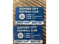 Oxford city football club season tickets