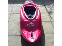 Kayak Riot Air 55 with Paddle and Spraydeck and in Excellent Condition