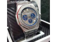 Complete Package Silver bracelet Gray face Audemars Piguet Royal Oak Watch sweeping