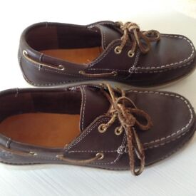 ** Timberland Brown Junior Earthkeepers Seabird Classic 2-eye boat shoes **