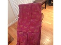 Excellent condition and value lined Silk Bay or Regular window curtains.