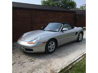 Porsche Boxster 2.7 silver with terracotta full leather interior. 39350 genuine miles