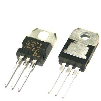 5 Pcs Positive 9 Volt Voltage Regulator 1.5 Amp To220 L7809 Lm7809 7809