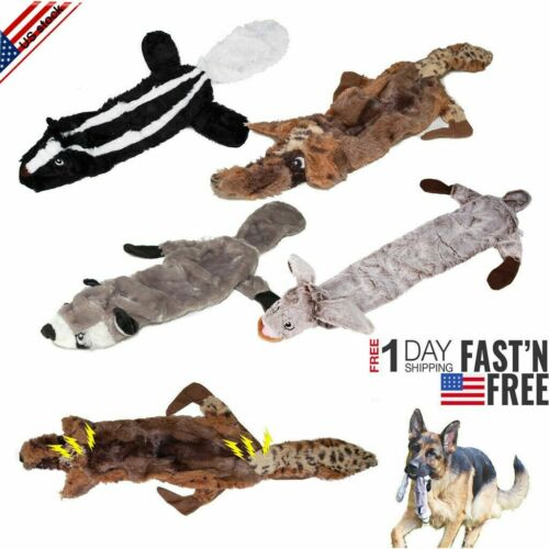 dog squeaky toys no stuffing dog plush