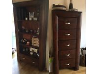 4 pieces of dark oak living room furniture