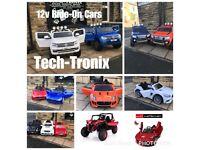 12v Ride-On Cars Ftom £100,12v Go Karts £85,24v Buggy £300,Parental Remote & Self Drive