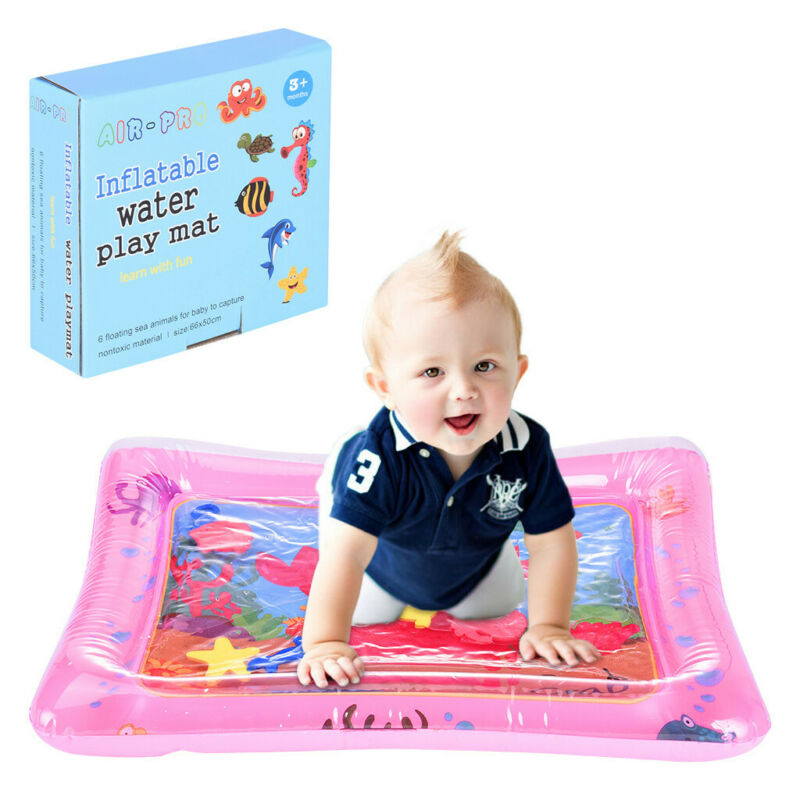 Inflatable Baby Water Mat Fun Activity Play Center Floor Coo
