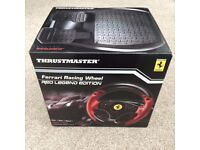 THRUSTMASTER FERRARI RACING WHEEL Red Legend Edition. For PS3 & PC. **New in Box** Unwanted Gift.
