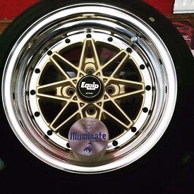 Work Equip 03 Three piece split wheels!
